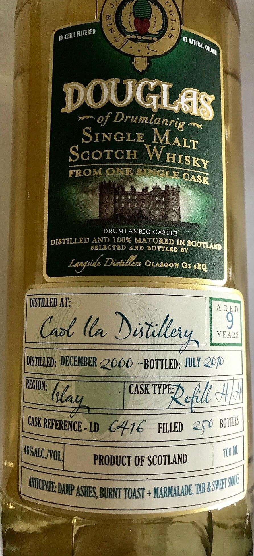 Douglas Single Malt Scotch Whisky, Caol Ila Distillery, Islay