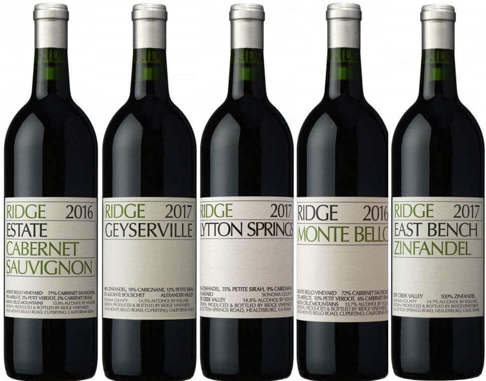 Ridge Wineyards 12 flasker
